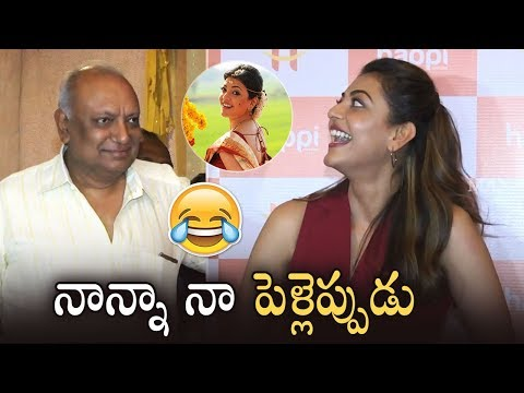 Actress Kajal Aggarwal Hilarious Answer About Her Marriage | Kajal Super Fun With Her Father