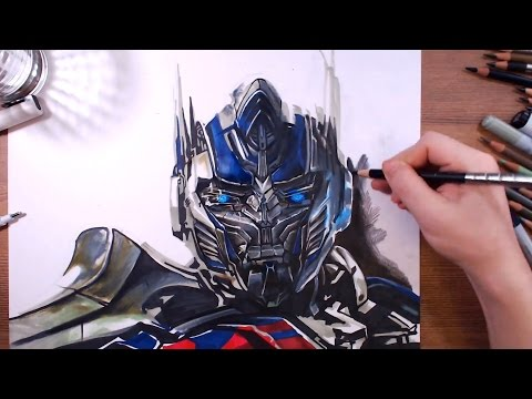 how to draw optimus prime step by step