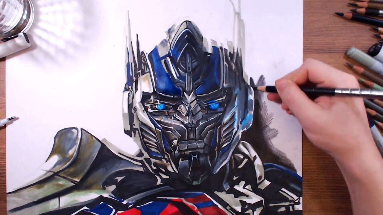 Transformers optimus prime speed drawing drawholic - Optimus prime dessin ...