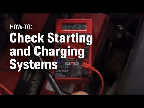 How to Check Your Starting and Charging System  YouTube