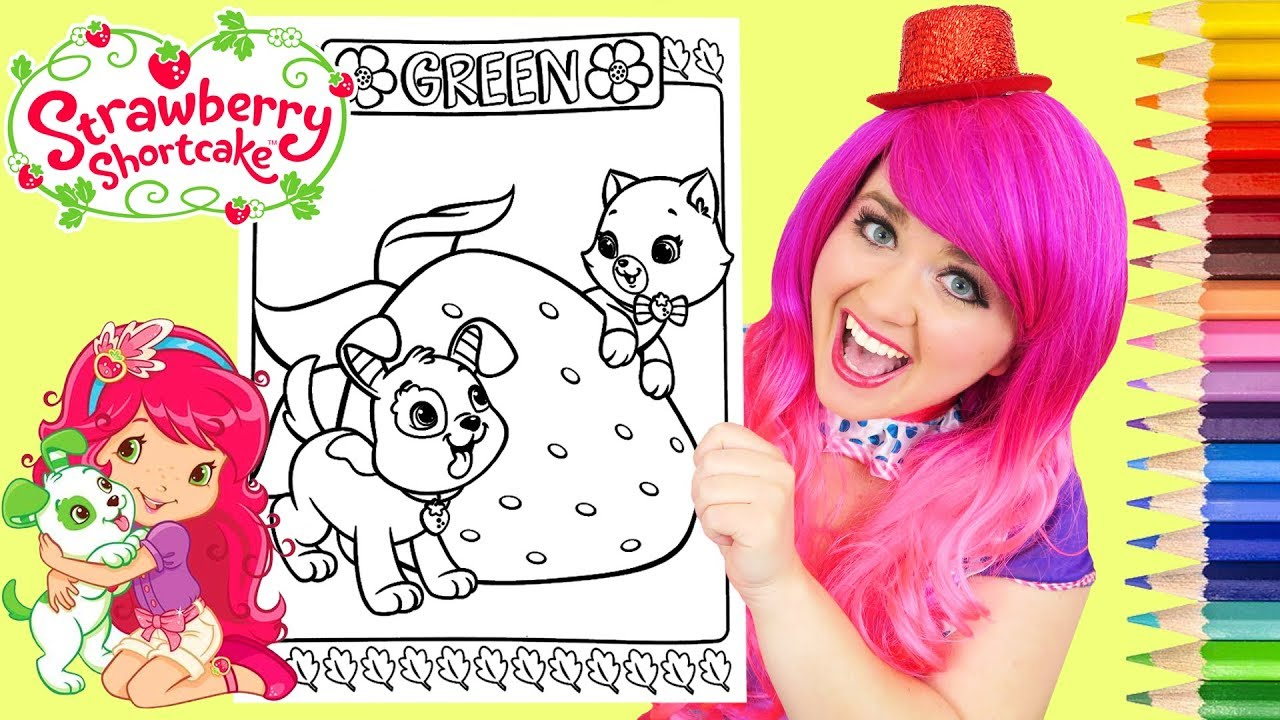 Top 20 Free printable Strawberry Shortcake Coloring Pages Online | 720x1280