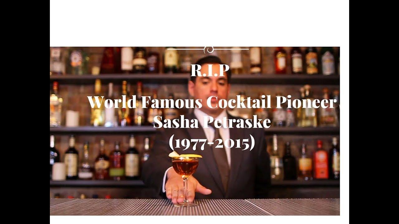 Sasha Petraske World Famous Cocktail Pioneer (1997-2015) 42 years! R I P