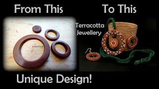 Terracotta Abstract Jewellery Set | Unique & Stylish #paintedearthbyneha #terracottajewellery