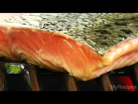 How long to bbq salmon fillet with skin