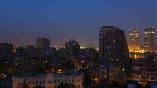 dusk time lapse cairo EGYPT.HD