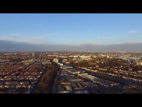 Drone's eye view over North West London, Alperton / Wembley / Harrow / Brent