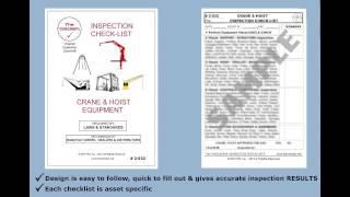 Crane & Hoist Equipment Inspection Checklist # 2-032 The Checker