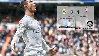 Real Madrid 7-1 Celta (La Liga 2015/16, matchday 28)