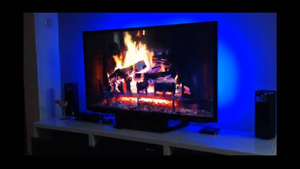led hintergrundbeleuchtung f r ein tv ger t youtube. Black Bedroom Furniture Sets. Home Design Ideas