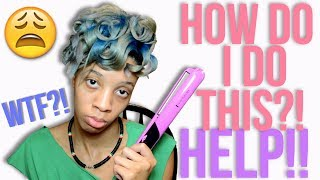 ATTEMPTING to Style My Straightened Natural Hair (Hilarious!)
