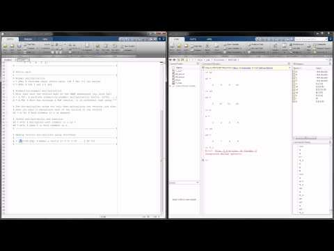 MATLAB Tutorial 2 - Creating Matrices and Matrix Math