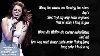 Miley Cyrus - When I Look At You (Lyrics + deutsche Übersetzung) [HQ]