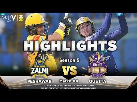 Quetta Gladiators Vs Peshawar Zalmi   Full Match Highlights   Match 4   22 Feb 2020   HBL PSL 2020
