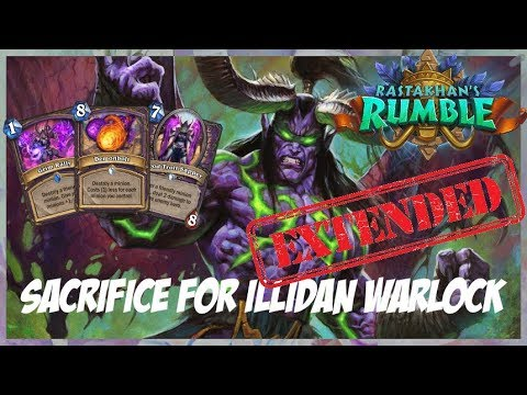 Sacrifice for Illidan Warlock | Extended Gameplay | Hearthstone | Rastakhan's Rumble