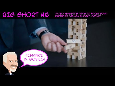 The Big Short 6 - Jared Vennett's Pitch to Front Point Partners (Jenga Blocks Scene)
