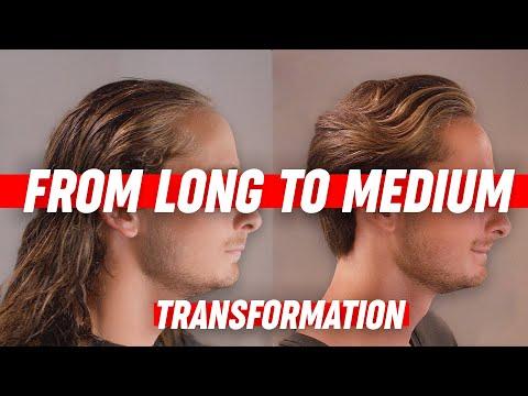 Medium Long Hairstyle   Mens Hair Transformation   SlikhaarTV