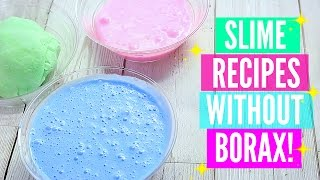 Testing Popular No Borax Slime Recipes! How To Make Slime Without Borax