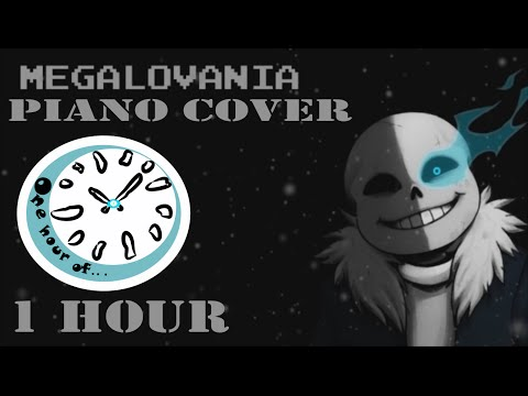 Megalovania Piano Cover (Sans Version) 1 hour | One Hour of...