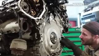 Замена цепи грм Audi A6 2.4 v6 BDW (part 1)