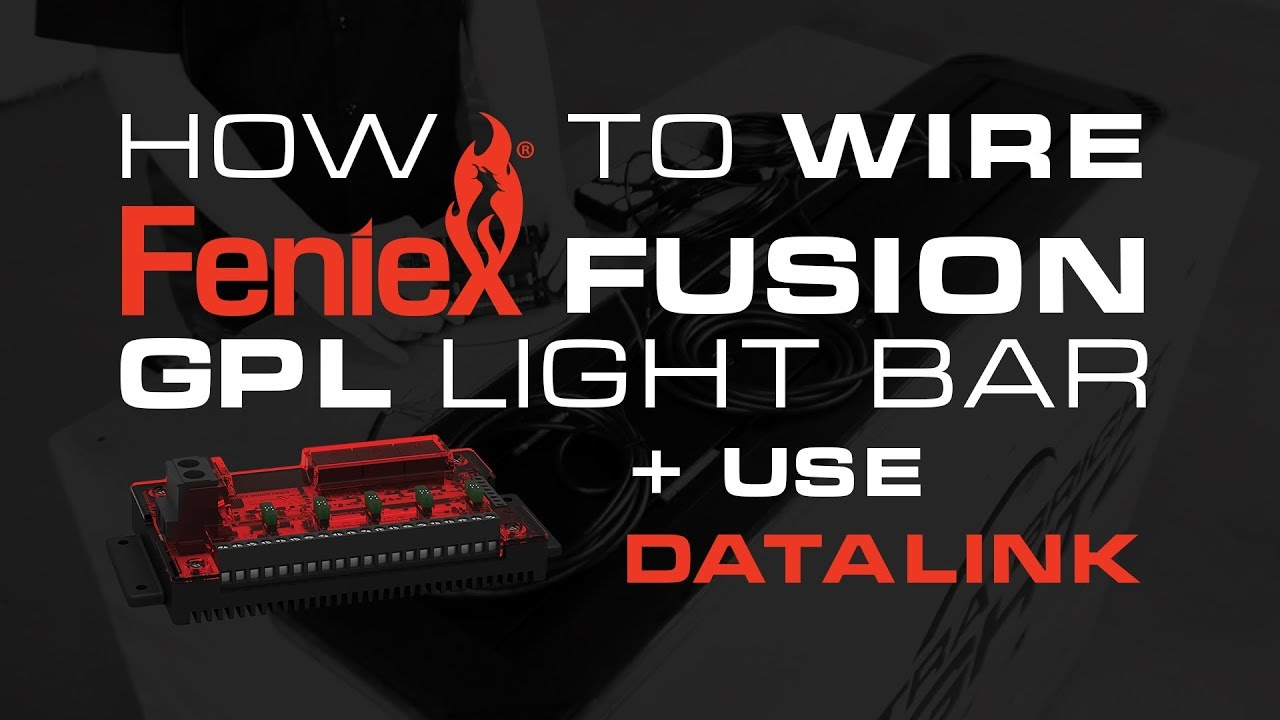 how to wire the feniex fusion gpl light bar and use datalink [ 1280 x 720 Pixel ]