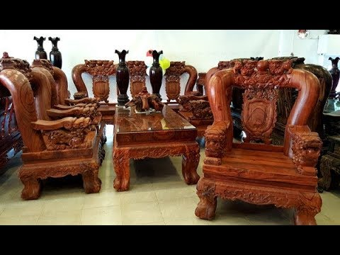 Ngắm bộ bàn ghế trắc đỏ quý hiếm: 18 tháng kỳ công chế tác