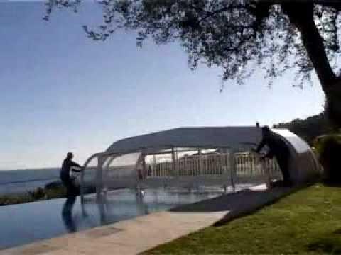 Abri de piscine eureka mod le roussilon youtube for Abri piscine eureka