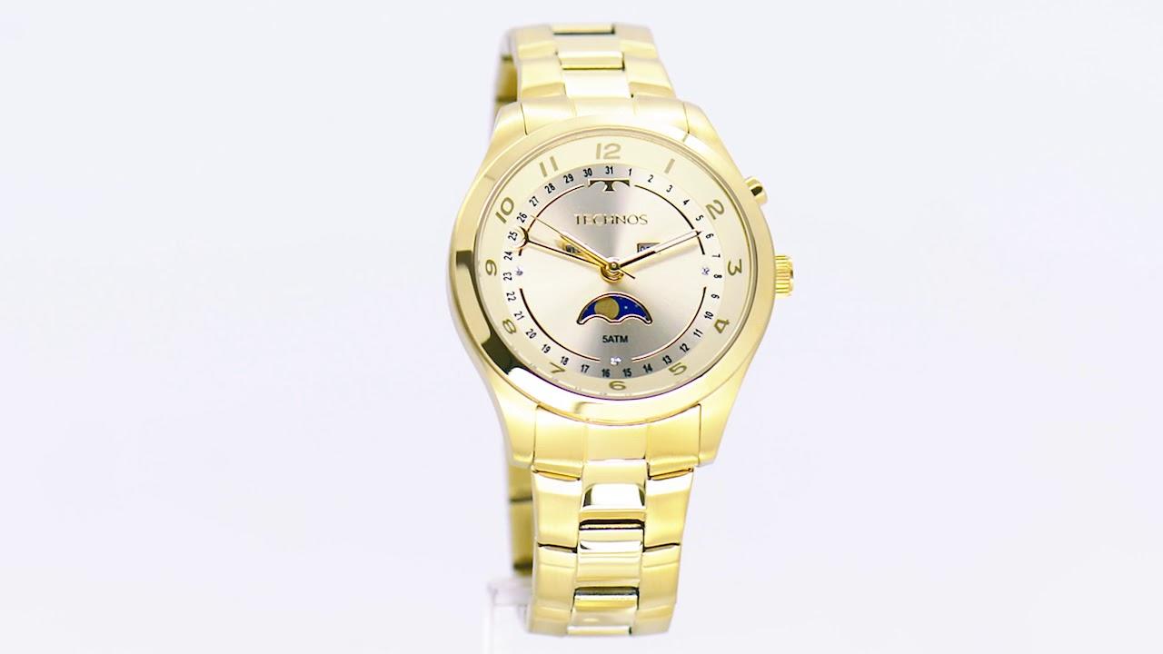 a2a484f65fd Relógio Technos Feminino Calendário Lunar 6P80AA 4X - Eclock - YouTube