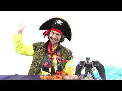 Человек Паук #СУПЕРГЕРОИ и сокровища Пиратов! 🍨Человек Паук против Стервятника. Игры пираты