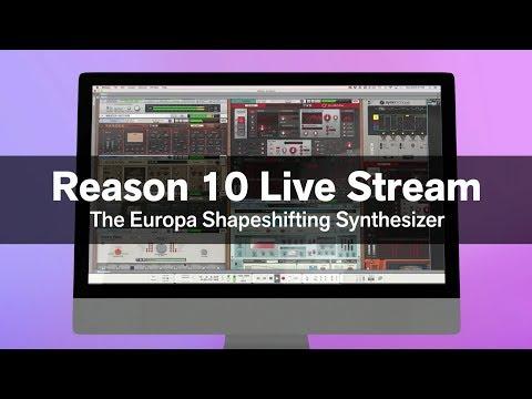 Reason 10 Live Stream: Europa Shapeshifting Synthesizer
