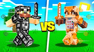 BEDROCK ARMOR vs COMMAND BLOCK ARMOR in Minecraft!