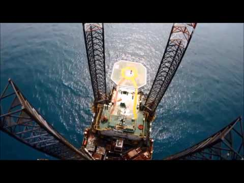 Drone offshore jackup rig video