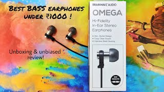 Brainwavz Omega | Unboxing and Full Review | Solid Bass!