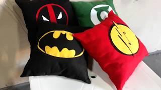 Personalizando Almofadas – Super Heróis