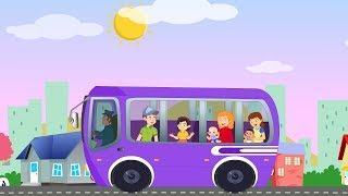 Wheels on the bus go round and round | Nurser rhymes | Songs for chidlren