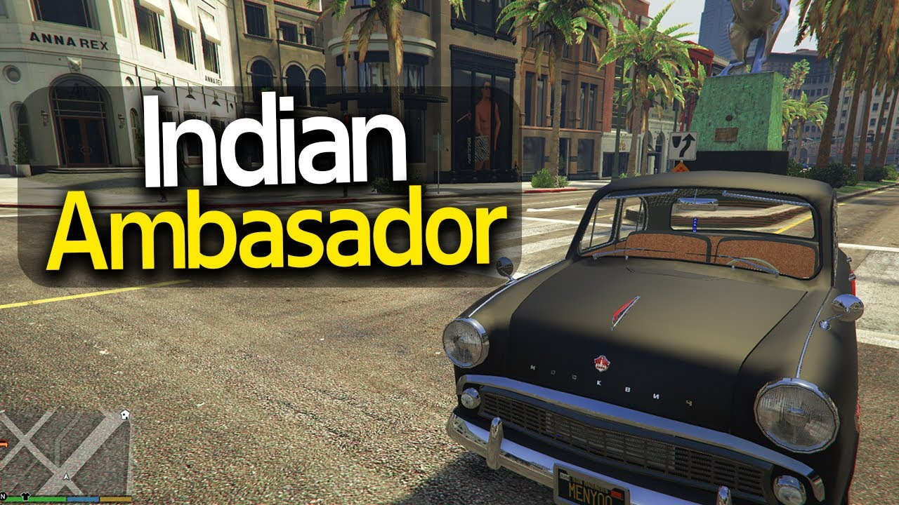Indian Ambasador Modification 2020  അതും GTA 5 Game ൽ🔥