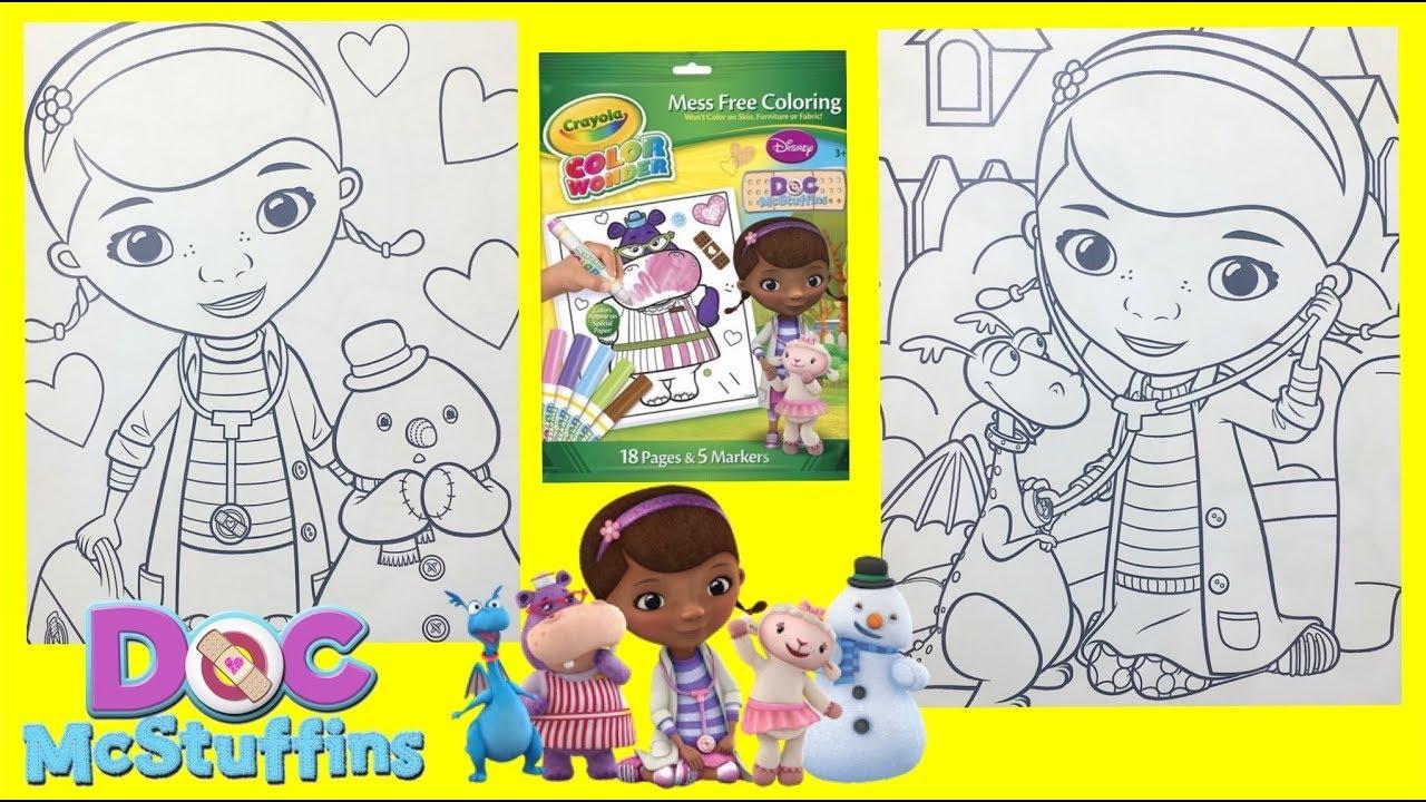 crayola color wonder magic ink doc mc stuffins coloring book for kids - Magic Ink Coloring Books