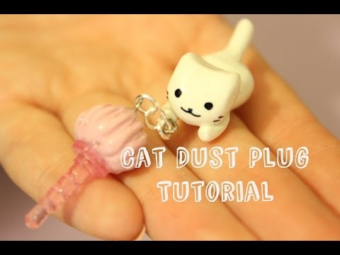 Dangling Kitty Headphone Dust Plug Tutorial - DIY Kawaii Polymer Clay Tutorial