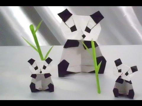 ハート 折り紙 折り紙パンダ顔折り方 : youtube.com