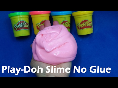 DIY Slime Play Doh Without Glue, How To Make Slime Without Play Doh With Glue, Borax, Detergents