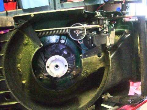 Replacing The Belts On A Vari Drive Hayter 41 Mower Repair