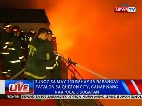 NTVL: Sunog sa may 100 bahay sa Brgy. Tatalon sa Quezon City, ganap nang naapula