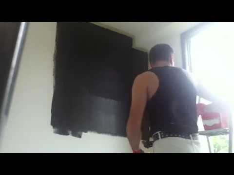 peindre un mur en couleur flamant noir de lune youtube. Black Bedroom Furniture Sets. Home Design Ideas