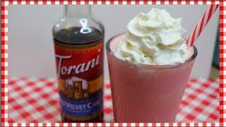 Red Velvet Cake Cream Frappe ~ Torani Friday ~ Noreen's Kitchen