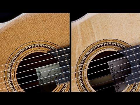 Soundboard Comparison - Cedar Double-top Vs. Sitka Spruce Double-top - David J. Pace Guitars