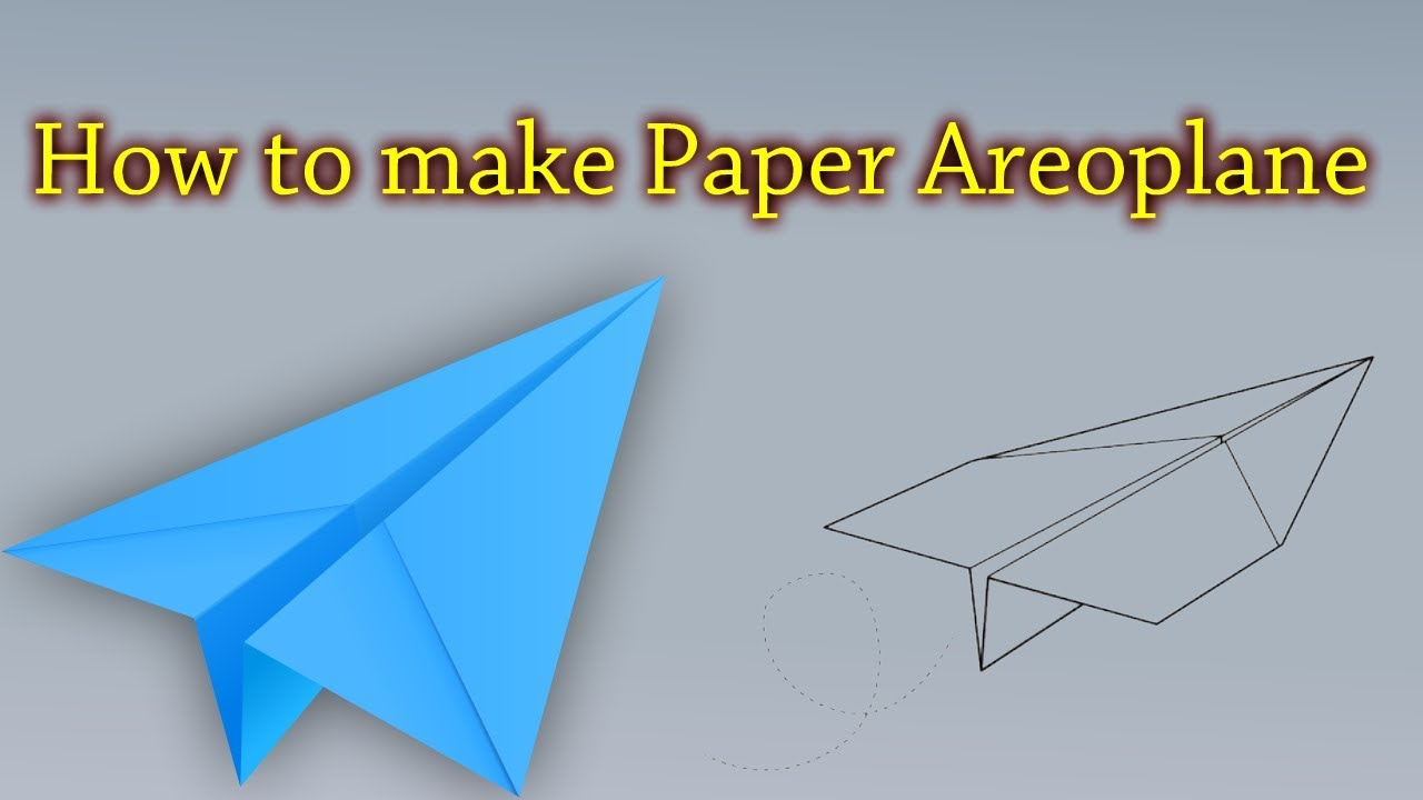How To Make Paper AeroPlane Airplane Origami Rocket That Fly