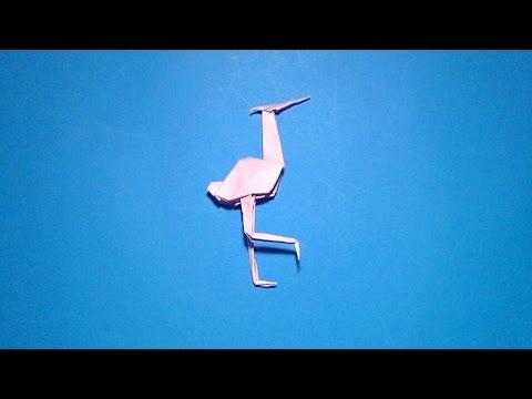 como se hace una garza origami