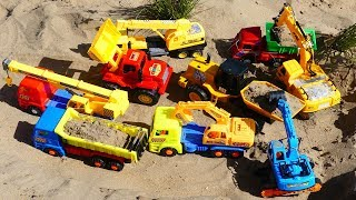 Excavator, Dump Truck Cartoon Vehicles Toys For Children, Trucks for Kids
