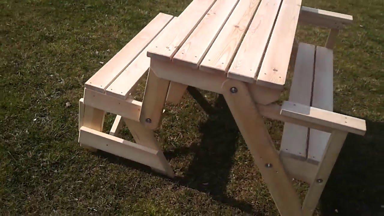 ławka Ogrodowa Rozkładana Stół Ogrodowy Plus ławki