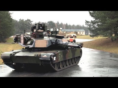 US Army - M1A2 SEP V2 Main Battle Tanks Live Firing At Exercise Combine Resolve III [1080p]