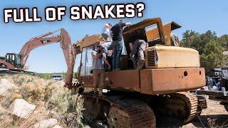"""This Might Be The Most Incredible """"Will It Start"""" Video Of All Time! (2 HUGE Excavators Pt 1)"""